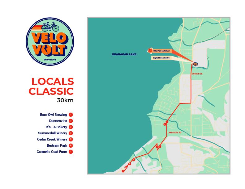 Kelowna Locals Classic map