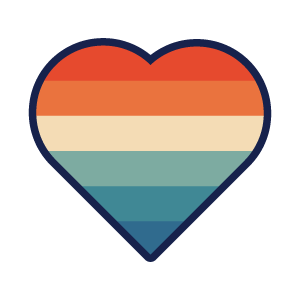 kelowna pride rainbow heart